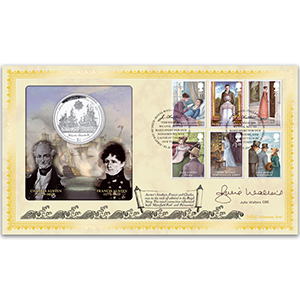 2013 Jane Austen Coin Cover - Signed Julie Walters CBE