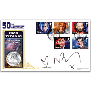 2013 Doctor Who Stamps Coin Cover 2 Signed Russell Tovey