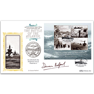 2013 Merchant Navy M/S Coin Cover - Signed Dr Duncan Redford