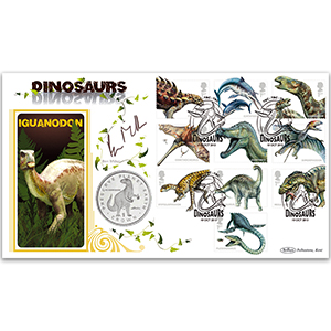 2013 Dinosaurs Stamps Coin Cover - Signed Ben Miller