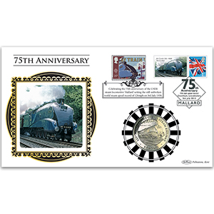 2013 Mallard Locomotive 75th Anniversary Special Coin Cover