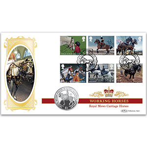 2014 Working Horses Stamps Coin Cover