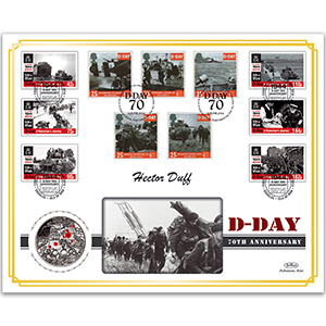2014 D-Day 70th Anniversary Special Coin Cover - Signed by Hector Duff