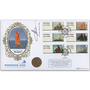 2015 Post & Go Working Sail Coin Cover - Signed by Dame Ellen MacArthur DBE