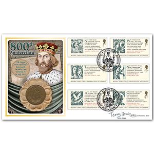 2015 Magna Carta 800th Anniv. Coin Cover Sig Terry Jones