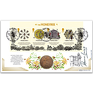 2015 Bees M/S Coin Cover - Signed by Ronnie Corbett
