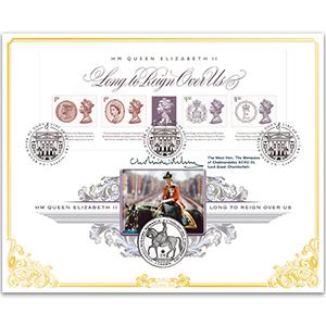 2015 Long to Reign Over Us M/S - Signed Lord Cholmondeley KCVO DL