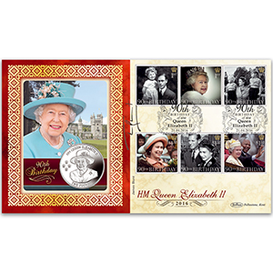 2016 Queen's 90th Bday Stamps Coin Cover - Signed by James Blunt