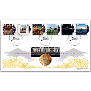 2016 Pink Floyd Stamps Coin Cover