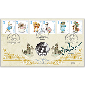 2016 Beatrix Potter Stamps Coin Cover - Signed Bill Paterson