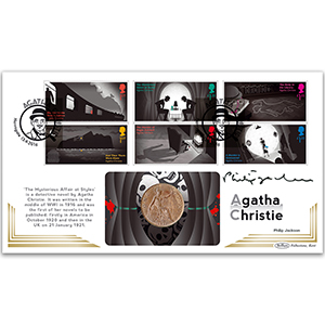 2016 Agatha Christie Stamps Coin Cover - Signed Philip Jackson