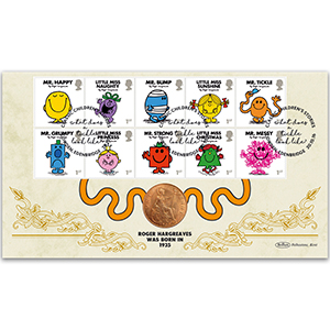 2016 Mr Men Stamps Coin Cover