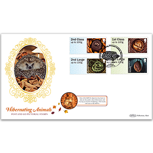 2016 Post & Go Hibernating Animals Coin Cover
