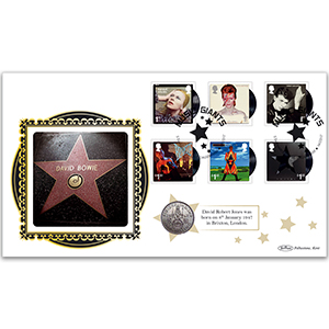 2017 David Bowie Stamps Coin Cover
