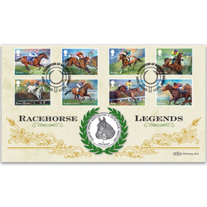 2017 Racehorse Legends Stamps Coin Cover