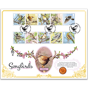 2017 Songbirds Stamps Coin Cover