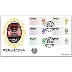 2017 Post & Go Machin Anniversary Coin Cover