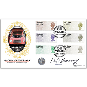 2017 Post & Go Machin Anniversary Coin Signed Neil Morrissey