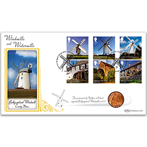2017 Windmills and Watermills Stamps Coin Cover