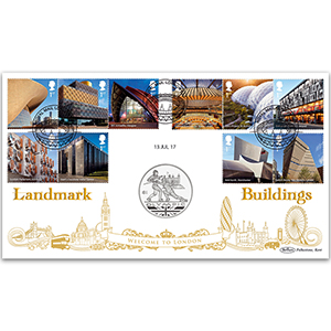 2017 Landmark Buildings Stamps Coin Cover