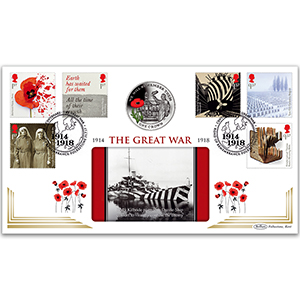 2017 WWI Stamps Coin Cover