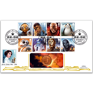 2017 Space Adventure Stamps Coin Cover
