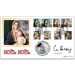 2017 Christmas Stamps Coin Cover Signed Clare Balding OBE