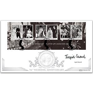 2017 Platinum Wedding M/S Coin Cover - Signed Ingrid Seward