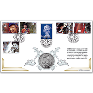 2017 65th Anniversary of the Accession of HM Queen Elizabeth II Special Coin Cover