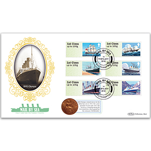 2018 Post & Go - Mail By Sea Coin Cover