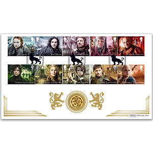 2018 Game Of Thrones Stamps Coin Cover