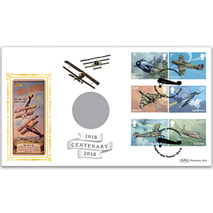 2018 RAF 100th Anniversary Stamps Coin Cover