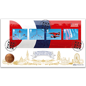 2018 RAF Red Arrows M/S Coin Cover