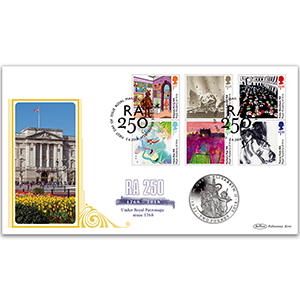 2018 Royal Academy of Arts 250th Stamps Coin Cover