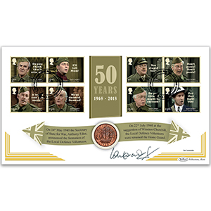 2018 Dad's Army Stamps Coin Cover - Signed by Ian Lavender