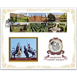 2018 Hampton Court Palace Stamps Coin Cover