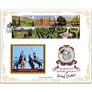 2018 Hampton Court Palace Stamps Coin Cover - Signed Dame Hilary Mantel DBE FRSL