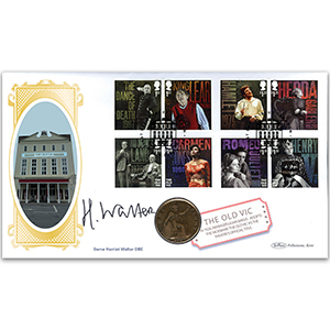 2018 The Old Vic Bicentenary Coin Cover Signed Dame Harriet Walter DBE