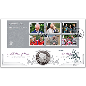 2018 Prince Charles 70th M/S Coin Cover - Signed Ian Skelly