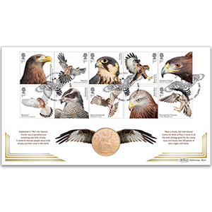 2019 Birds of Prey Stamps Coin Cover