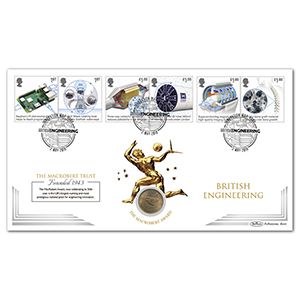 2019 British Engineering Stamps Coin Cover