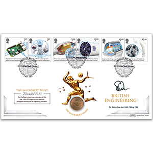 2019 British Engineering Stamps Coin - Signed Dr Dame Sue Ion