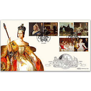 2019 Queen Victoria Stamps Coin Cover