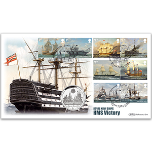2019 Royal Navy Ships Stamps Coin Cover