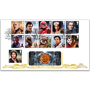 2019 Star Wars Stamps Coin Cover