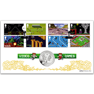 2020 Video Games Stamps Coin Cover
