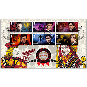 2020 James Bond Stamps Coin Cover