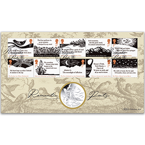 2020 Romantic Poets Stamps Coin Cover