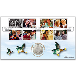2020 Coronation Street Stamps Coin Cover