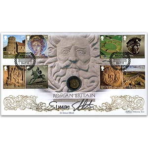 2020 Roman Britain Stamps Coin Cover Signed Dr Simon Elliott